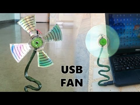 How to Make a USB Fan using CD at Home - Easy Way