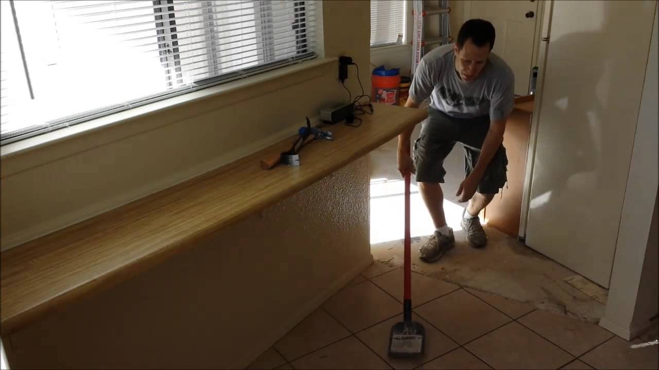 How to demo tile flooring youtube how to demo tile flooring dailygadgetfo Gallery