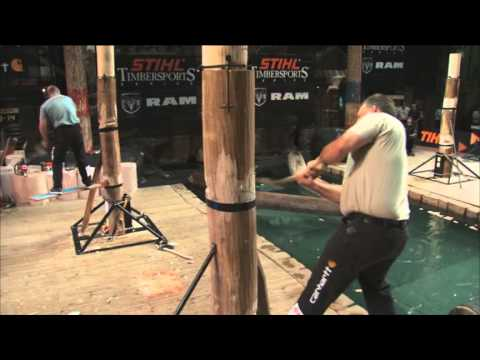 2012 US Championships - Springboard Chop Lumberjack Competition