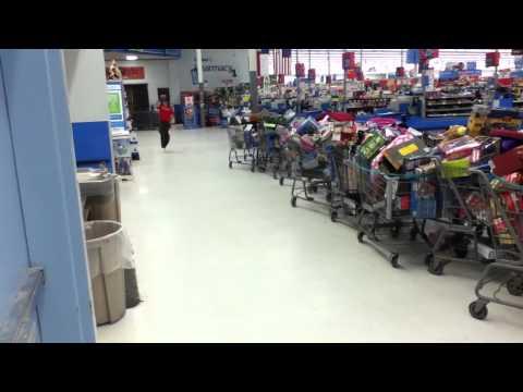 Natali Tumbles in WalMart