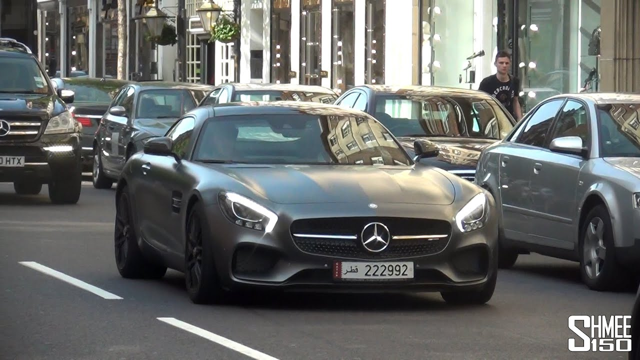 Mercedes amg gt s from qatar driving in london youtube for Mercedes benz qatar