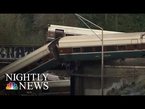 Fatalities After Train Derails Over Highway Near Tacoma, Washington | NBC Nightly News