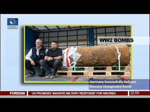 Germany Successfully Defuses Massive Unexploded Bomb Pt.4 |News@10| 03/09/17