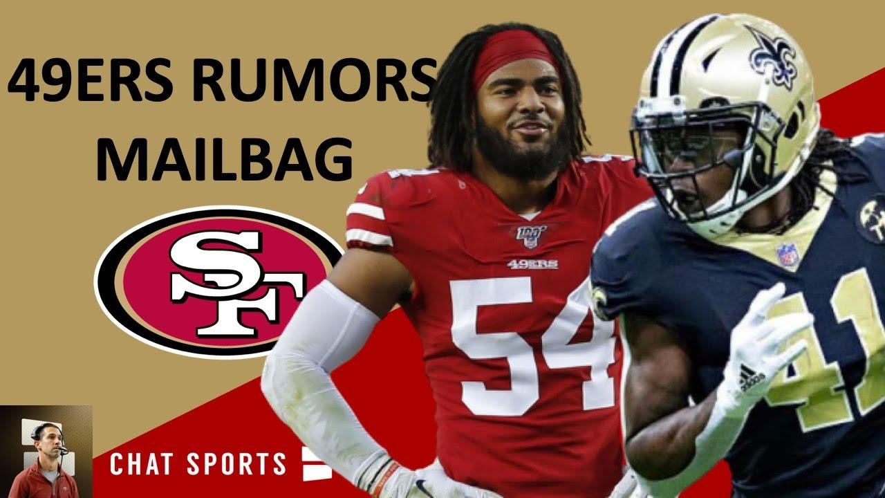 49ers Trade Rumors On Alvin Kamara Latest 49ers News On Fred Warner Mailbag Youtube