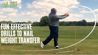 how to fix incorrect weight transfere golf swing