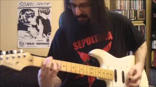 Sepultura - screams behind the shadows - guitar cover - Full HD