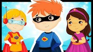 Les super héros en comptines