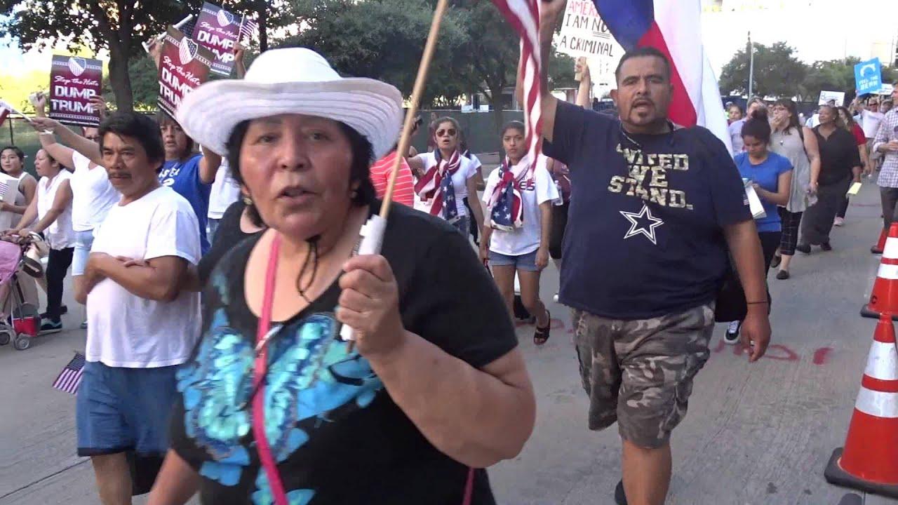 Dump The Trump March ~ Dallas, TX - YouTube