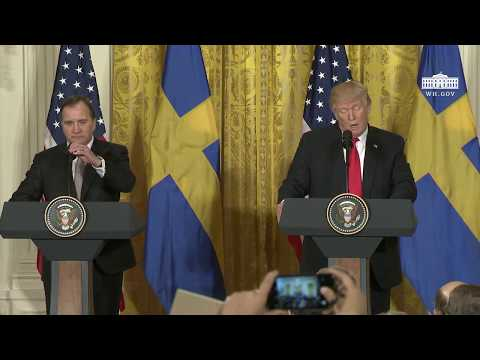 President Trump Holds a Joint Press Conference with Prime Minister Stefan Löfven
