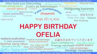 Ofelia   Languages Idiomas - Happy Birthday