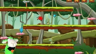 ПРИКЛЮЧЕНИЯ ОГОНЬ и ВОДА в парке динозавров #1 Побег от злых зверей развлекательное видео для детей