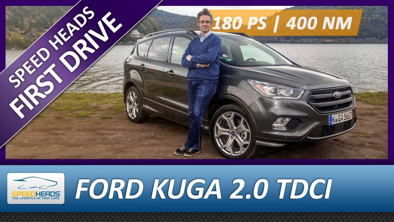 2017 ford kuga st line test 180 ps 2 0 tdci awd fahrbericht review speed heads youtube. Black Bedroom Furniture Sets. Home Design Ideas