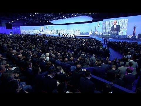 Speech at the Plenary session of the St Petersburg International Economic Forum