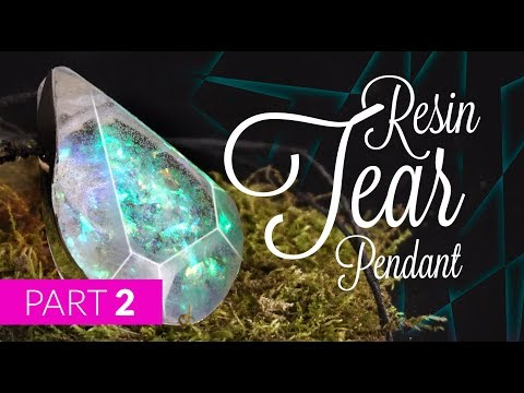 How to make RESIN TEAR pendant [DIY] - part 2