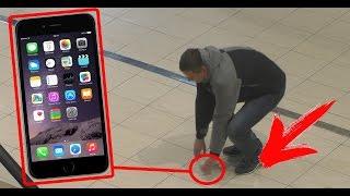 ЧТО ЕСЛИ iPhone 6s ПРИКЛЕИТЬ К ПОЛУ в ТОРГОВОМ ЦЕНТРЕ ?! ПРАНК