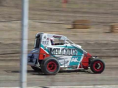 Wingless Mini Sprint Practice Barona Speedway 7-13-2019