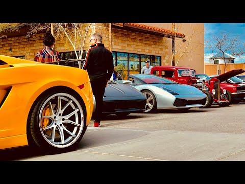 Lamborgini Squad At The El Paso Substation February Cars And Coffee!