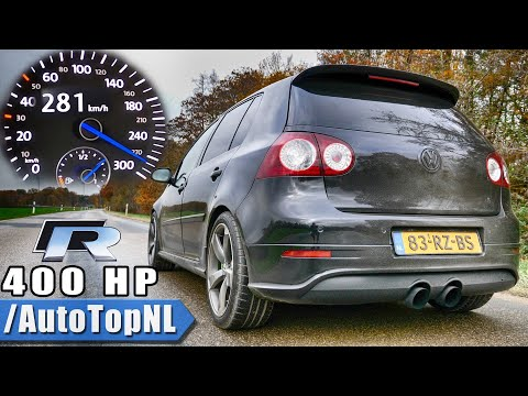 VW GOLF MK5 R20 400HP 0-280km/h ACCELERATION & DRAGY GPS By AutoTopNL