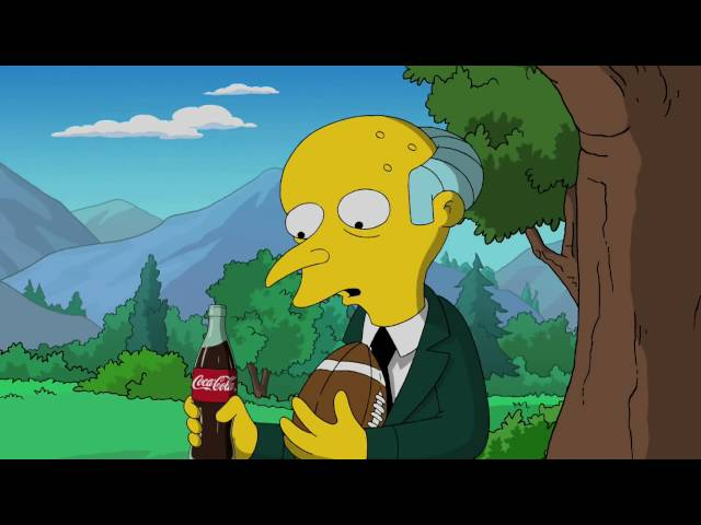 Coca Cola Simpsons Super Bowl 2010 Special Edition Commercial in HQ!