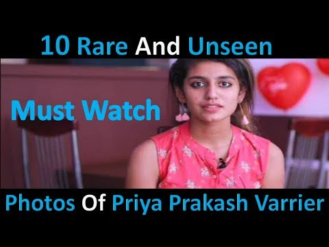 10 Rare And Unseen Photos Of Priya Prakash Varrier | Viral News Daily