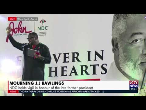 Mourning J.J Rawlings: NDC holds vigil in honour of the late former president (17-11-20)