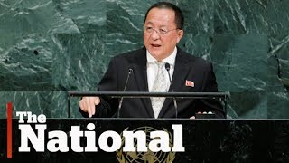 North Korea's foreign minister blasts Donald Trump during UN speech
