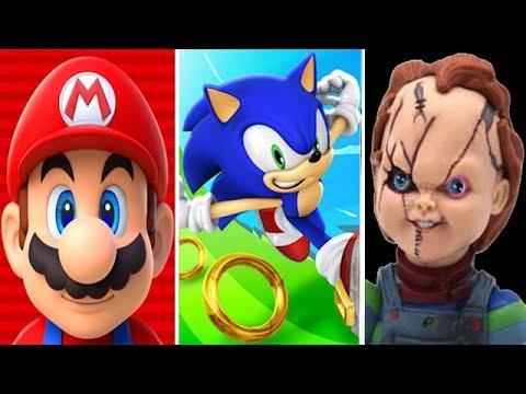 Super Mario Run Vs Sonic Dash Vs Chucky Slash & Dash