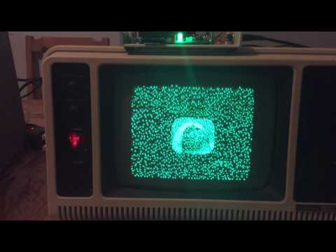 TRS-80 Model 4 Playing The Six Million Dollar Man Intro