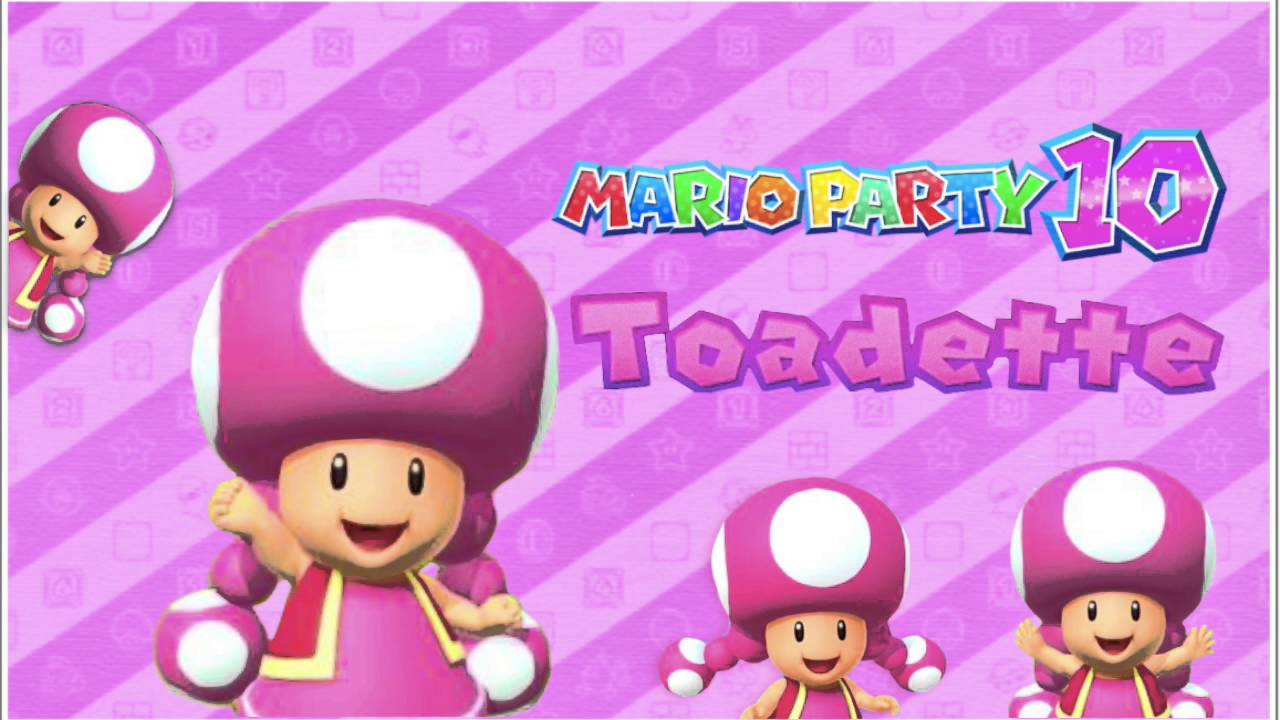 Image toad and toadette mario party nintendo