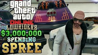 GTA ONLINE LOWRIDERS! $3,000,000 SPENDING SPREE! (BUCANEER, FACTION, & CHINO)