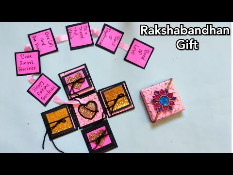 Rakshabandhan Gift For Sister | Explotion Box Making | DIY | By Punekar Sneha