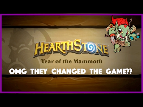 MAMMOTH CHANGES COMING TO HEARTHSTONE! Rotation News, Cards Moving To Wild, New Hero