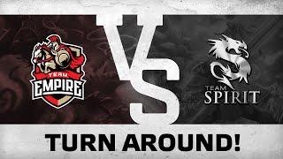 Turn around! by Team Empire vs Team Spirit @ DreamLeague 5