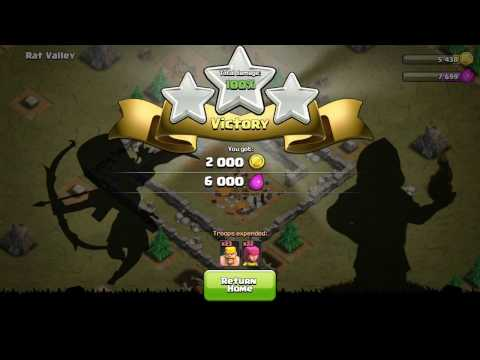 CLASH OF CLANS -  How To Attack The RAT VALLEY