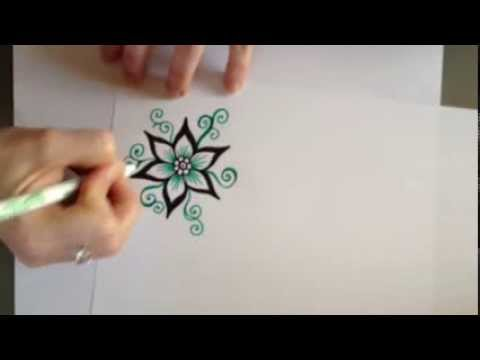 Henna Design Tutorial Pointed Petal Flower