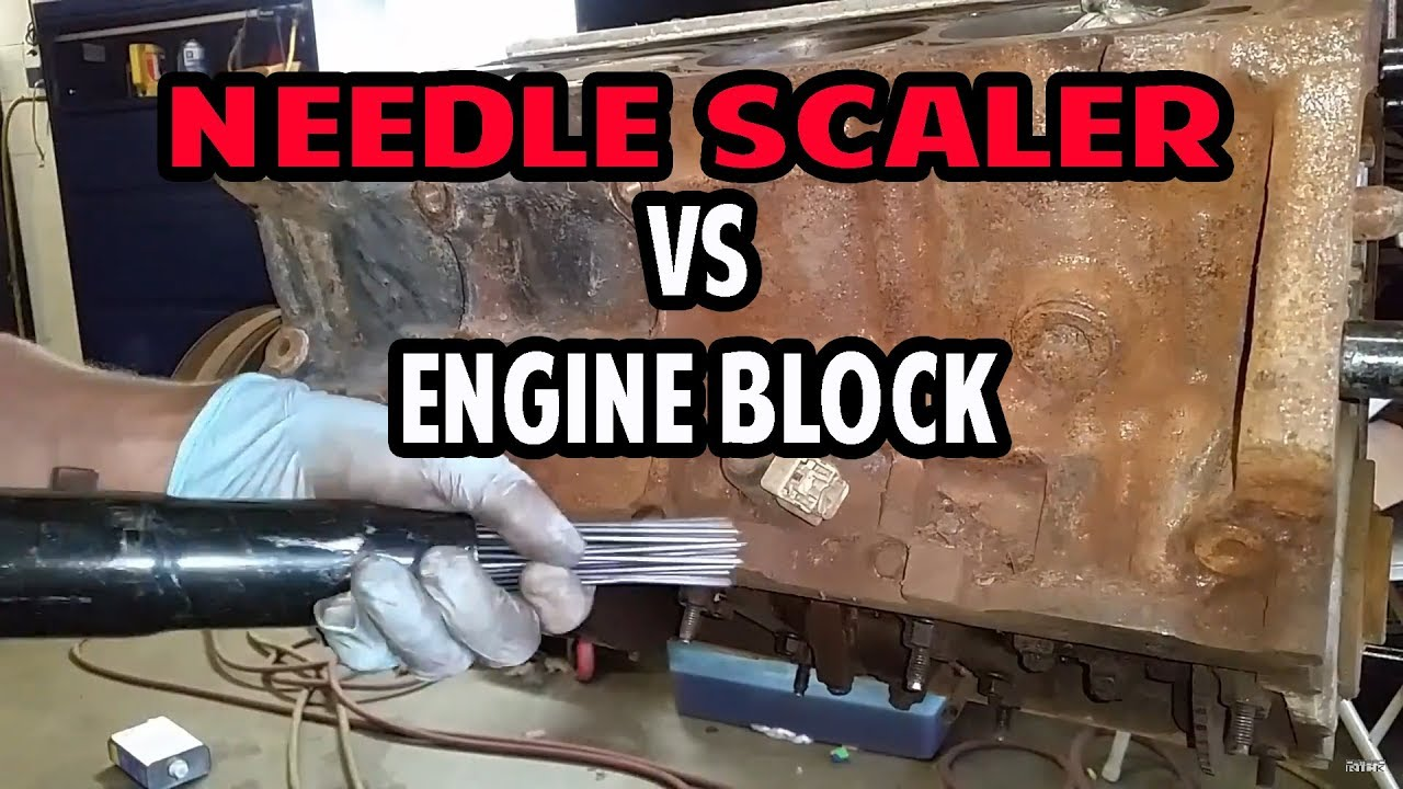 Engine Paint and Rust Removal with a Needle Scaler: Project $ 10