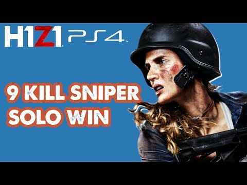 9 Kill Solo Win with Nasty Snipes | H1Z1 Ps4 Closed Beta [PS4 PRO]