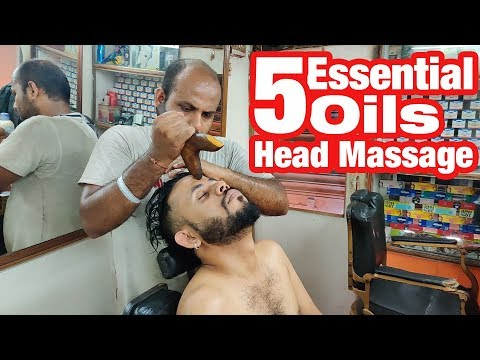 5 Essential oils Gua Sha head massage with neck cracking by Reiki Master   Indian Massage
