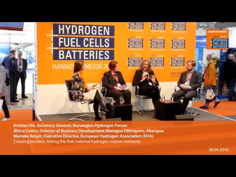 Crossing borders: linking the first national hydrogen station networks