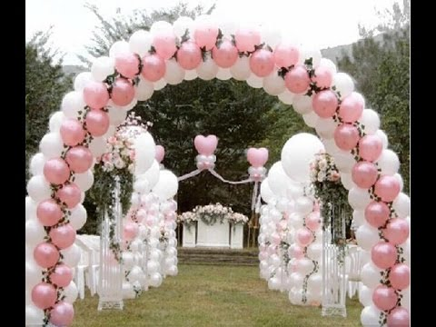 Como adornar con globos para boda youtube for Ideas para decorar una galeria cerrada