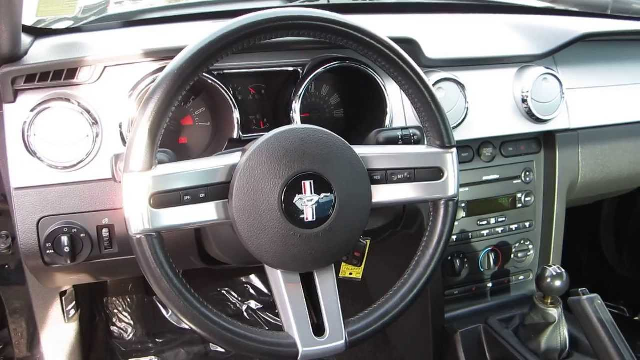 2007 ford mustang black stock 6069791 interior youtube for Inside 2007 online