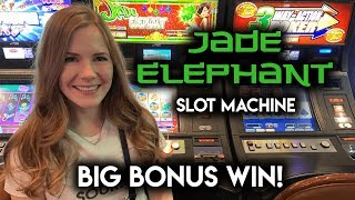 BIG BONUS WIN! Jade Elephant Slot Machine!
