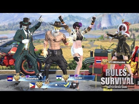 A GAME WITH PRIVATEPLORK, SMZZGAMING, HACKER & YUNA! - Rules of Survival