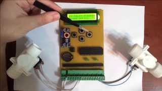 Контроллер управления для системы автоматического полива(Видео к статье на сайте Паяльник: http://cxem.net/house/1-370.php., 2014-11-07T14:44:15.000Z)