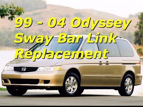 99 - 04 Honda Odyssey Sway Bar End Link Replacement | Install front stabilizer | Bundys Garage