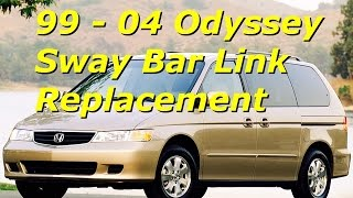 99 - 04 Honda Odyssey Sway Bar End Link Replacement | Install front stabilizer | Bundys Garage