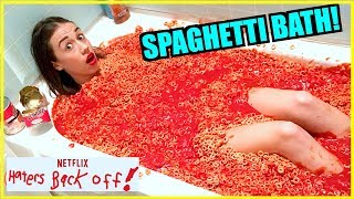 TAKING A BATH IN SPAGHETTIOS!!!