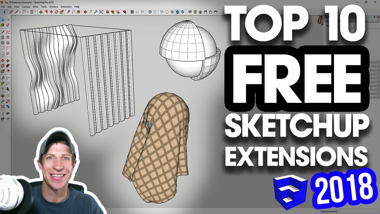 The TOP 10 FREE SketchUp Plugins of 2018!