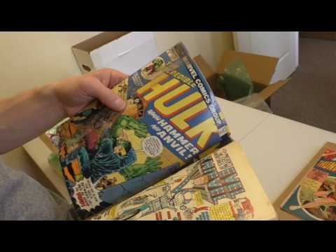 Sell My Comic Books: :( Unboxing Water Damaged Treasures