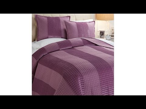 Concierge Collection 3piece Velvet Stripe Coverlet Set